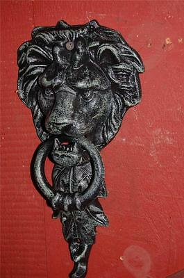 NEW Antique Style Large Rustic Majestic Cast Iron LION HEAD Door Knocker