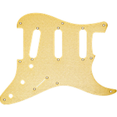 Genuine Fender Strat Gold Anodized Pickguard 8-Hole Vintage Stratocaster ~ New
