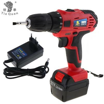 110-220V Cordless 21V Electric Drill Screwdriver with Li-ion Battery for Screw