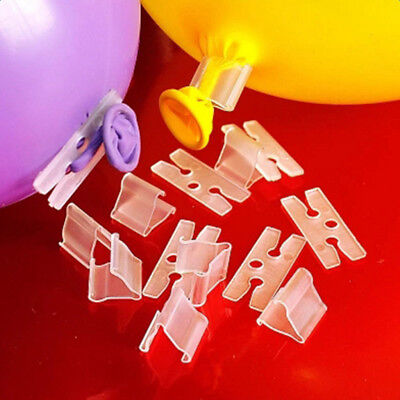 Lot of 100Pcs V H Shape Balloons Sealing Clip Balloon Clips Tie Party Accessory