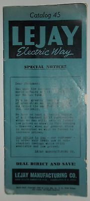 1950 Electric Way Electrical Supply Catalog 45 LEJAY MANUFACTURING CO MPLS MN