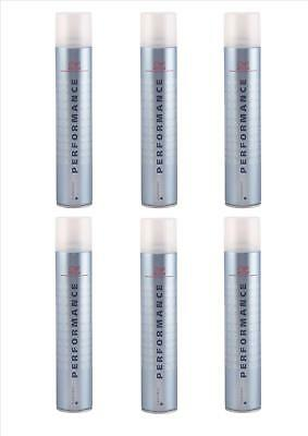6x Wella Performance Haarspray Normal 500ml pro