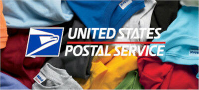 FREE SHIPPING - USPS Short Sleeve Postal Service Shirts - 20 DIF COLORS! SM - 4X