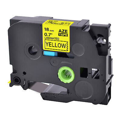 TZ-641 Label Tape Black on Yellow TZe-641 For Brother P-touch PT-D600 18mm 3/4""