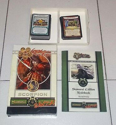 LEGEND OF THE FIVE RINGS SCORPION Samurai edition Banzai 84 cards Rule Book L5R