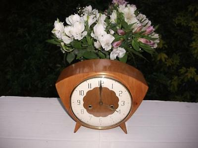Stunning Smiths 8 Day Cherry Case Striking Mantel Clock. 1961. Fully Overhauled.