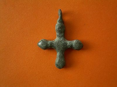 A Medieval Harness Pendant In The Form Of A Cross - UK Metal Detecting Find