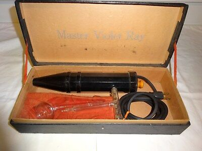 Vintage 1920's Master High Frequency Violet Ray Hair Stimulator
