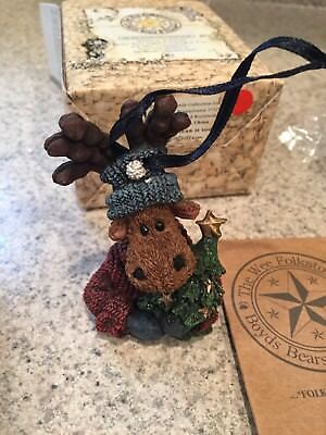 Boyds Bears And Friends Wee Folkstones Christmas Ornament Moose