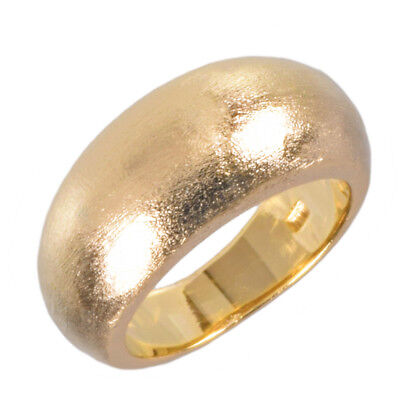 Rounded Statement Ring in Brushed Metal by Zoetik