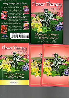 Flower Therapy Oracle Cards - Doreen Virtue & Robert Reeves - 44 card deck