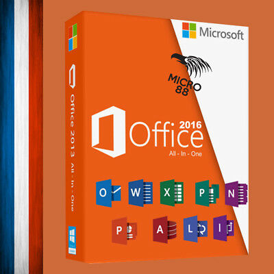 • Microsoft Office 2016 Professionnel Licence 1 PC - Office 2016 Pro •