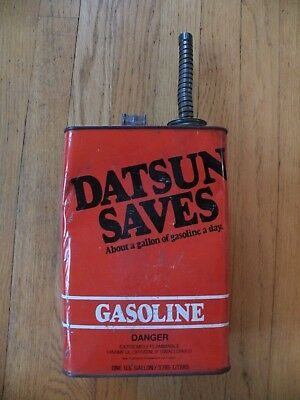 Vintage Datsun Saves Gas Can