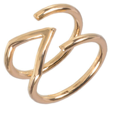 16k Gold Plated Geometric Outline Ring by Zoetik