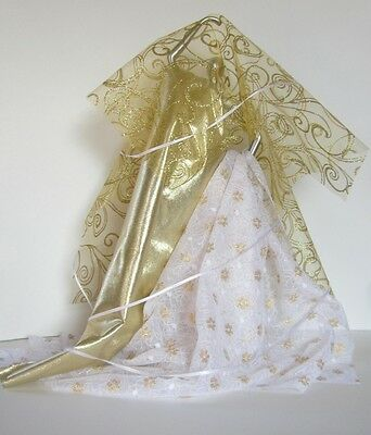 Metallic Gold And White Fabric Collection For Dolling Up Your Dolly