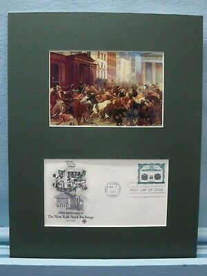 Wall Street and the New York Stock Exchange & First Day Cover of its stamp