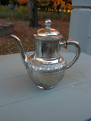 Rogers Smith Meriden Ct Quadruple plated Silver tea/coffee pot