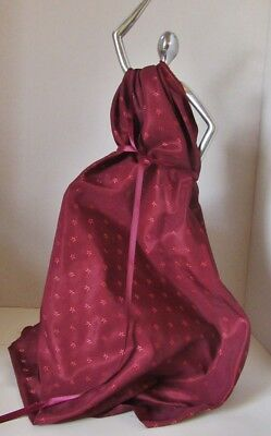 Gorgeous Burgundy Silk Salvage With Matching Ribbon