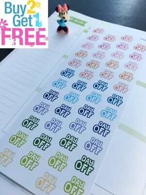 PP049 -- Small Day Off Icons Life Planner Stickers for Erin Condren (54 pcs)