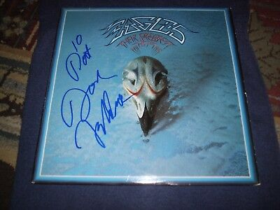 "Eagles Signed Record Don Felder Greatest Hits Inscribed ""10 Best"" Rare! Proof!"