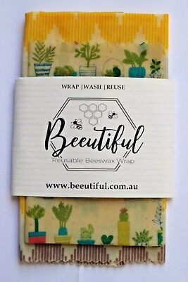 Set Of 2 Reusable Beeswax Wraps (Small + Large)