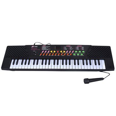 54 Keys Music Electronic Keyboard Kid Electric Piano Organ W/Mic & Adapter, This
