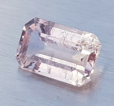 WaterfallGems Emerald Cut Morganite, 10x6.3mm, 2.05ct