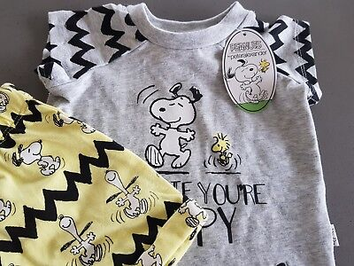 Peter Alexander Baby BNWT Unisex Snoopy Set, Sizes 0000, 000 + 0 RRP $49.95