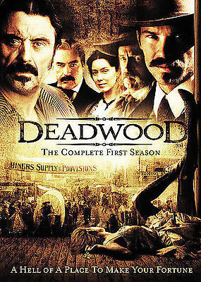 Deadwood - The Complete First Season (DVD, 2005, 6-Disc Set) Ian McShane, Sealed