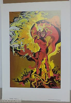 RARE! MEPHISTO Original Signed P.CRAIG RUSSELL 1988 Print FIRST TEAM PRESS