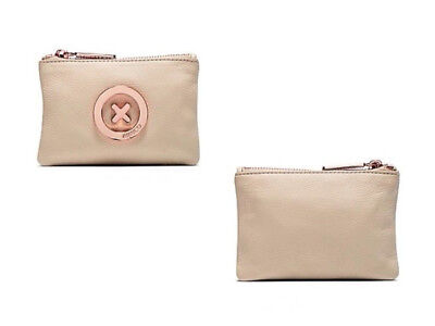Mimco Vanilla Supernatural small Leather Pouch rose gold hardware