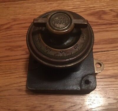 RARE Antique Complete Victor Safe & Lock Co. 4 Number Combination Dial Mechanism
