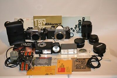 Huge Vintage Camera And Lens / Accessories Lot