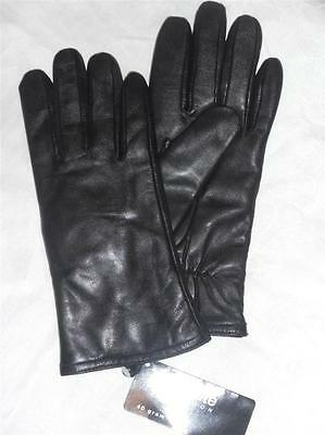 Ladies Fownes Genuine Leather Thinsulate Gloves,Small, Black