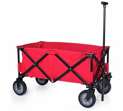 Campart Travel Foldaway Trolley Red Moving Garden Camping Multifunctional New