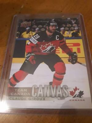 2017-18 Ud Canadian Tire Team Canada Canvas Claude Giroux Tcc-29