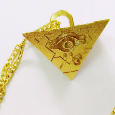 New Millenium Puzzle Item Yugi Muto Cosplay Gold Pendant Necklace Collectibles