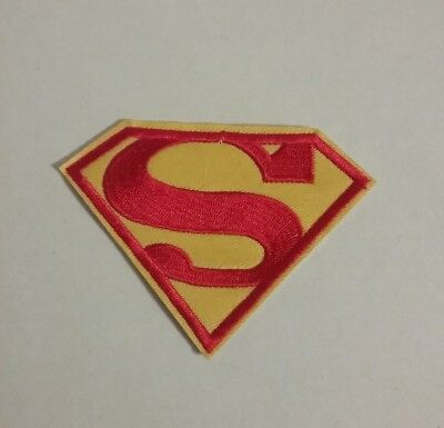 DIY Superman / Supergirl Embroidered Patch Applique Badge Iron-on/Sew On