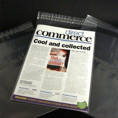 "100 9x12"" Comic Magazine Bags Sleeves Protective Dust Cover Self Seal Reusable"
