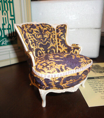 Take a Seat by Raine, 24030 Mrs. Vanderbilt's Chair c. 1897, NIB, COA
