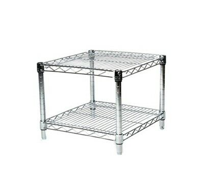 Chrome Wire Shelving 24 x 24 - 2 Shelf Unit Heavy Duty NSF