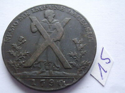 1790 Half-Penny Condor Token Hutchinson's Saint Andrew Edinburgh Great Britain