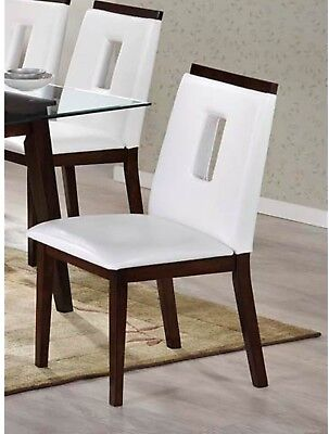 LYKE Home Westcott White PU Leather Dining Chair (Pack Of 2)
