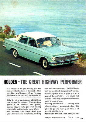 """1964 EH HOLDEN PREMIER AD A2 CANVAS PRINT POSTER 23.4""""x16.5"""""""