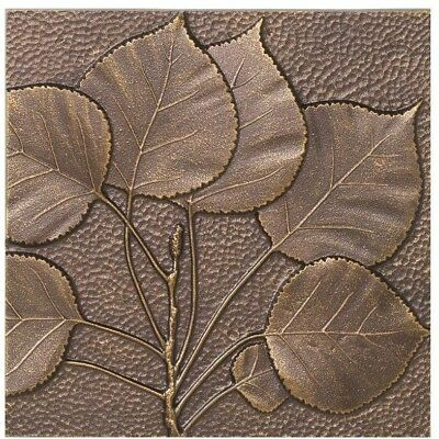 Hand crafted Aspen Leaf Aluminum Wall Decor Antique Copper 8 inch Made in USA