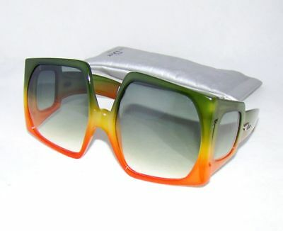 Christian Dior vintage D01 B645 orange green rectangular gradient sunglasses 741