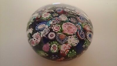 Antique French Clichy c1840s Millefiori Art Glass Paperweight