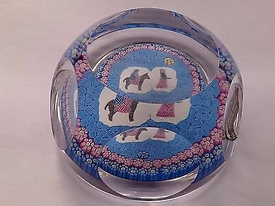 Whitefriars Limited Edition 1978 Mary On A Donkey Glass Paperweight