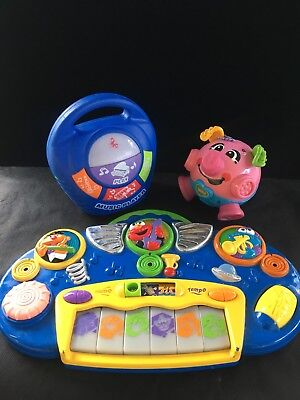 Fisher Price Bounce & Giggle Pig sesame street electronic music piano Music play