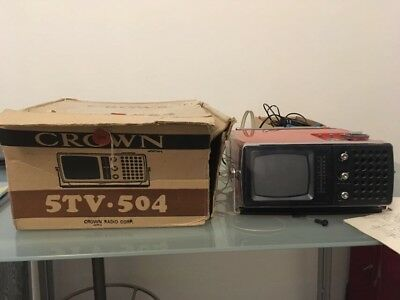 Tv Radio Arredo Space Age Vintage Epoca Design Crown Japan Model 5Tv-504